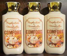 3 Bath&Body Works Confort Calabaza Latte Marshmallow Loción para Cuerpo Crema