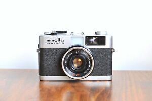 MINOLTA Hi - Matic G ,Compact 35mm film Camera, Made in Japan * Good Condition *