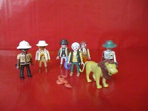 Playmobil   6 Figuren zur Safari Löwe