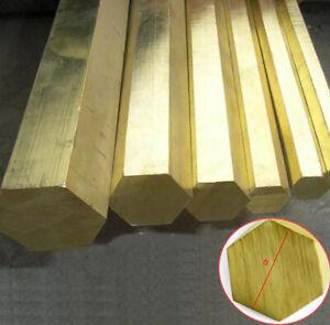 Solid H59 Brass Hex Rod Hexagon Bar CNC Metalworking Cut Welding DIY S=12mm-30mm
