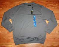 NWT Mens PEBBLE BEACH Performance Gray Long Sleeved Crew Neck Shirt Size XL