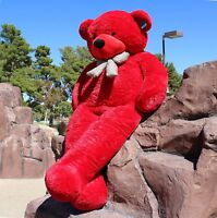 "Joyfay® Giant Teddy Bear 78"" 200 cm Red Stuffed Plush Toy Valentine Gift"