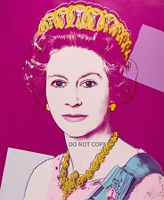 "ANDY WARHOL HM QUEEN ELIZABETH II  A4 NEW GLOSSY PHOTO PRINT 11.75"" X 8.25"""