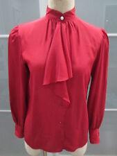 Vintage Hanae Mori Long Sleeve Ruffle Front Blouse Size 10