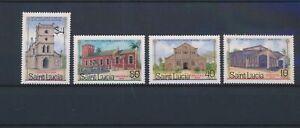 LN71230 St Lucia churches buildings fine lot MNH