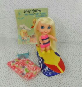 Vintage 1960's Liddle Kiddles #3517 SURFY SKIDDLE w/Accessories