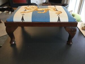 Vintage Footstool Perfect For A Refurbishment Project