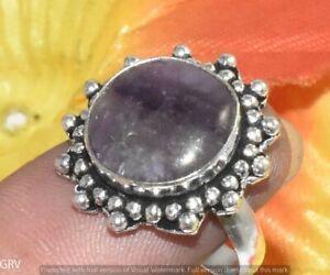 """Amethyst Gemstone Ring 925 Sterling Silver Plated US Size 7.5"""" U363-F135"""