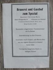 Werbung Blatt 1929 Bamberg Brauerei Gasthof z Spezial C Merz Bier Ofr 11x15cm
