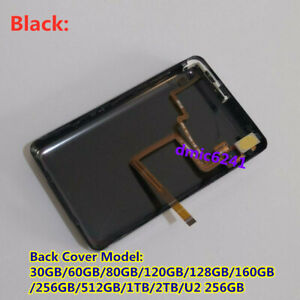 Black Thin Metal Back Case Housing Audio Jack Hold Switch for iPod Classic SSD