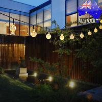 Outdoor Solar String Lights Globe Led Light with 20ft 30 LED White Crystal Balls