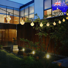 Outdoor Solar String Lights Globe Led Light with 20ft 30 LED White Crystal Balls