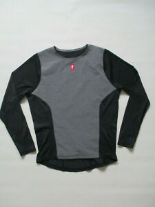 Men's Specialized Gray Black Long Sleeve Mesh Cycling Jersey Top L