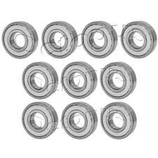 6206 ZZ High Quality Ball Bearings / 10 Pcs - Metal Shields - 30 * 62 * 16 mm