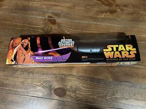 Star Wars Revenge of the Sith   Mace Windu   Elecronic Lightsaber