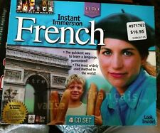 Topics Entertainment Instant Immersion FRENCH 4 CD Set the Euro method