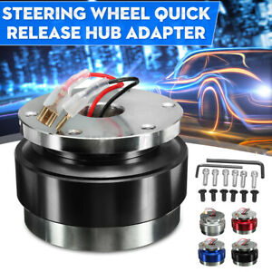 Universal Car Black Steering Aluminum Wheel Quick Release Hub Adapter Snap Off