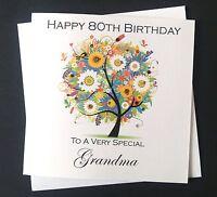 Handmade Birthday Card Mum Grandma Daughter Auntie 30th 40th 50th 60th 70th 80th