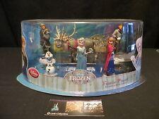Disney Store Authentic Frozen Original Play Set Figure Elsa Anna Olaf Sven Hans