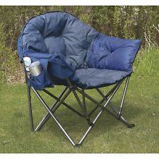 Oversized Folding Club Camp Chair - Blue,500-Lb. Capacity