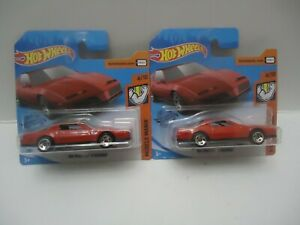 Hot Wheels '84 Pontiac Firebird Lot of 2 Short Card