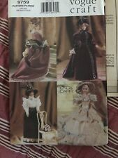 New ListingUncut vintage sewing pattern Vogue 9759 craft Barbie fashion doll period costume