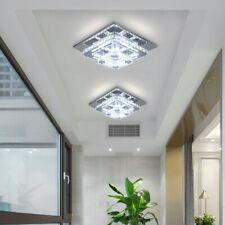 Modern Crystal Ceiling Light Chandelier Lamp LED Flush Mount Pendant Light 2-lay