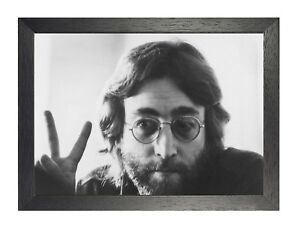 John Lennon Peace Sign English Singer Poster The Beatles Music Band Picture
