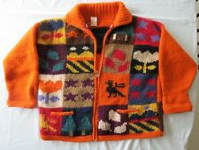 Hand-knit Folklor Peguche UGLY Sweater Women's L? Mens M? Cardigan Ecuador?