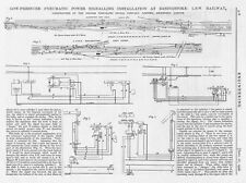 1906 2x Antique Engineering Prints - Rail Signalling Installation at Basingstoke