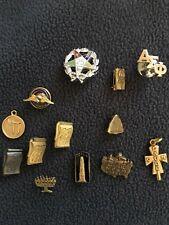 Mixed Pin Charm Lot Eastern Star, Judaica, Aopa, Cum Laude, Totem Order Redmen