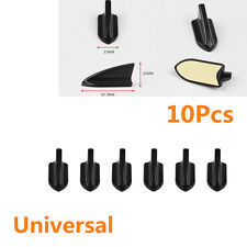 10Pcs Car Universal Black Front Bumper Spoiler roof Shark Fins Spoiler Wing Kit
