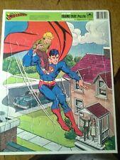 Vtg 1983 Superman Frame/Tray Puzzle Golden #4553B 24 pc