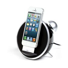 DOCKINGSTATION iPHONE 5 iPOD DOCK LAUTSPRECHER WECKER RADIO AUX-EINGANG