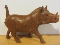 Vintage Carved Wooden Boar / warthog Sculpture