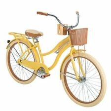 """Huffy 26"""" Nel Lusso Women Cruiser Bike with Perfect Fit Frame,Yellow ships free"""