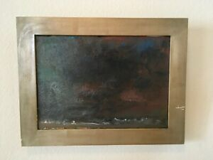 """Lawrence (Larry) Salander Original Oil Painting (1999) """"Stormy Day"""""""