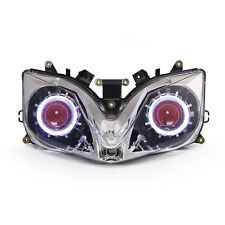KT LED Angel Eye HID Projector Headlight Assembly for Honda CBR600 F4i 2001-2007