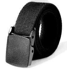 Men's Women's Belt Black Metal Free Plastic Buckle 43 5/16in Metalllos