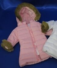 """Lovvbugg Pink Puffy Puffer Coat for 18"""" American Girl or Bitty Baby Doll Clothes"""