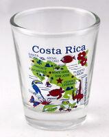 COSTA RICA MAP SHOT GLASS SHOTGLASS
