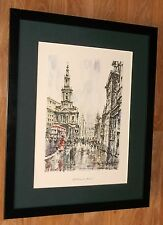 "St. Mary, le Strand, Sevilla Saez, London Wall Art, De 20"" 16"" Marco"
