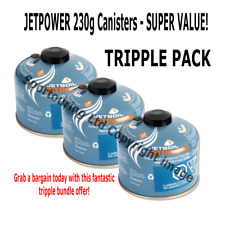 3 x Jetboil Jetpower Fuel 230g Camping Gas Isobutane Propane Fuel Mix