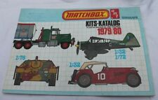 catalogue matchbox plastik bausatze und figuren 1979 1980