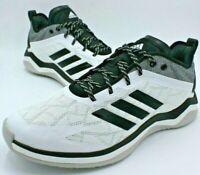 Adidas Originals Speed Trainer 4 Baseball Shoe, Men Sz 10.5, Black White CG5134