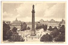 AK, Darmstadt, Luisenplatz mit Ludwigssäule, um 1929