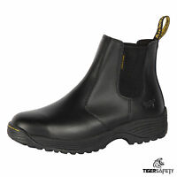 Dr Martens DM Docs Cottam Black Chelsea Dealer Steel Toe Cap Work Safety Boots