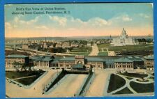 Bird's Eye View Of Union Station Showing State Capitol, Providence, RI - Earl PC
