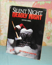 vintage SILENT NIGHT, DEADLY NIGHT video store counter display standee
