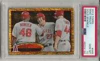 2012 TOPPS  #446  MIKE TROUT,  PSA 10 GEM MINT, GOLD SPARKLE, RARE, L@@K !